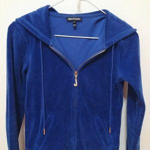 Juicy Couture Royal Blue Zip-up Hoodie